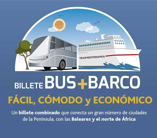 billete combinado bus barco
